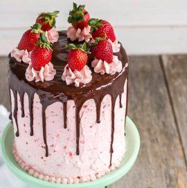 تهیه کیک توت فرنگی